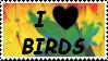 I Love Birds STAMP by PeregrineFalconLady
