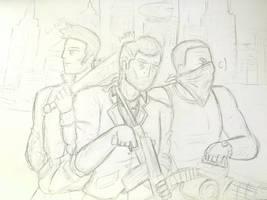 (boceto) claude tommy cj by Art-Pz