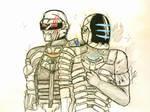 isaac y carver como  Daft Punk