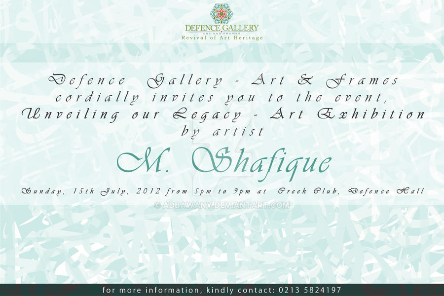 Sample invitation card for art exhibition gallery invitation art exhibition invitation card by adbawany on deviantart art exhibition invitation card by adbawany stopboris gallery stopboris Choice Image