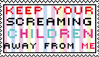 screaming kids stamp by Miss-Ali-cat