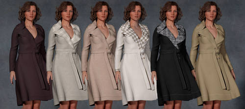 6 TEXTURES FOR G2F SINFUL NIGHT TRENCH COAT