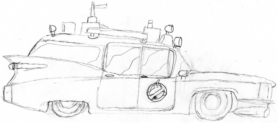 ghostbusters car 3d coloring sheets coloring pages