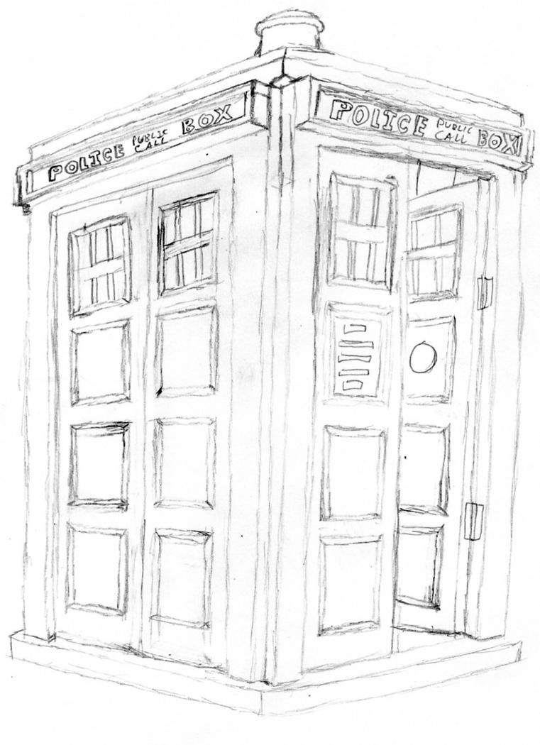the tardis rough drawing by timelordparadox on deviantart