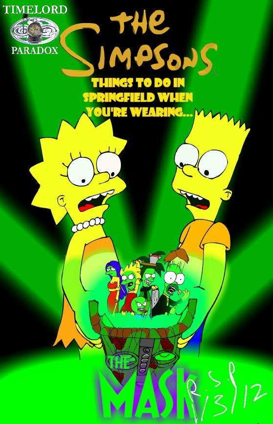 The Simpsons, the Mask Fanfiction art cover by TimeLordParadox