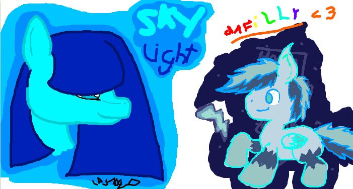 Iscribble skylight and black rainboom frozen drop by for Skylight net login