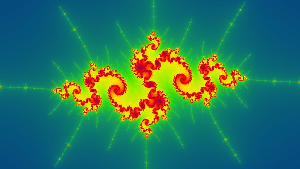 [Julia set] c=-1.769382-0.003138i (4K render) by Matplotlib