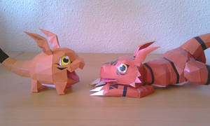 Gigimon and Guilmon
