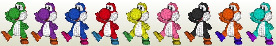 Yoshi color schemes by Destro2k