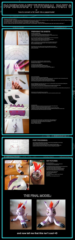 Papercraft Tutorial Part 6 of 6 by Destro2k