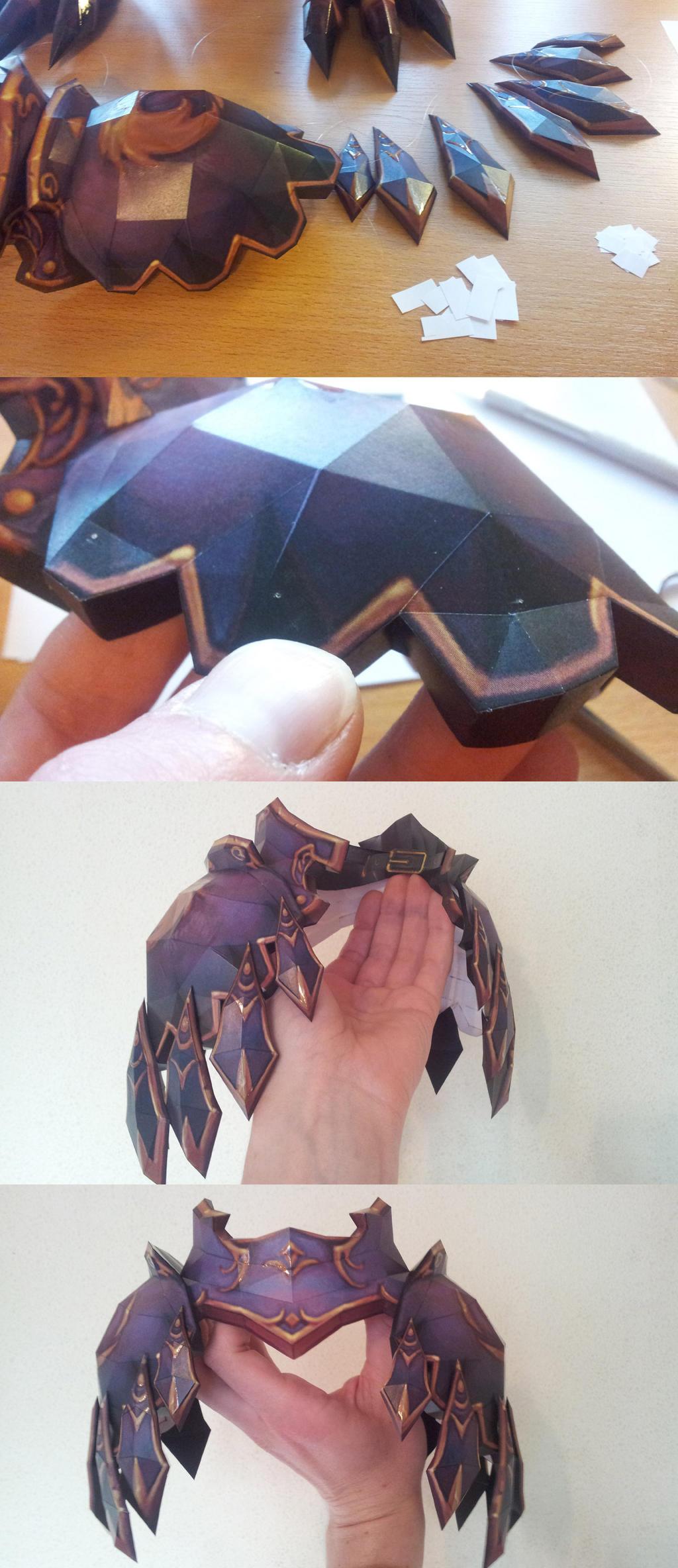 Avian Defender - combining shoulder armor p.2of2