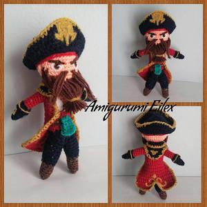 Captain Gangplank amigurumi