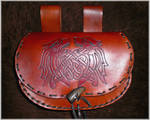 leather bag: wolf by baehrserker