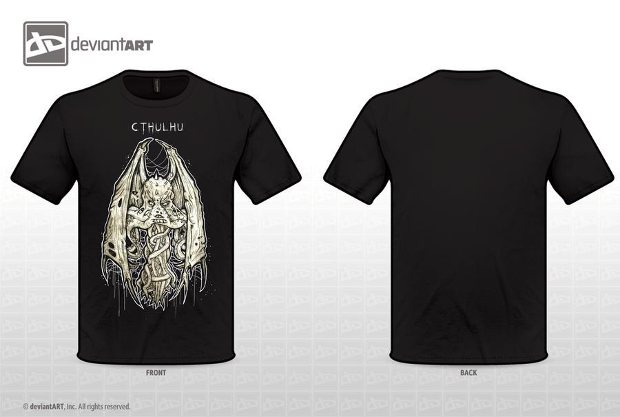 Cthulhu t-shirt by ayillustrations