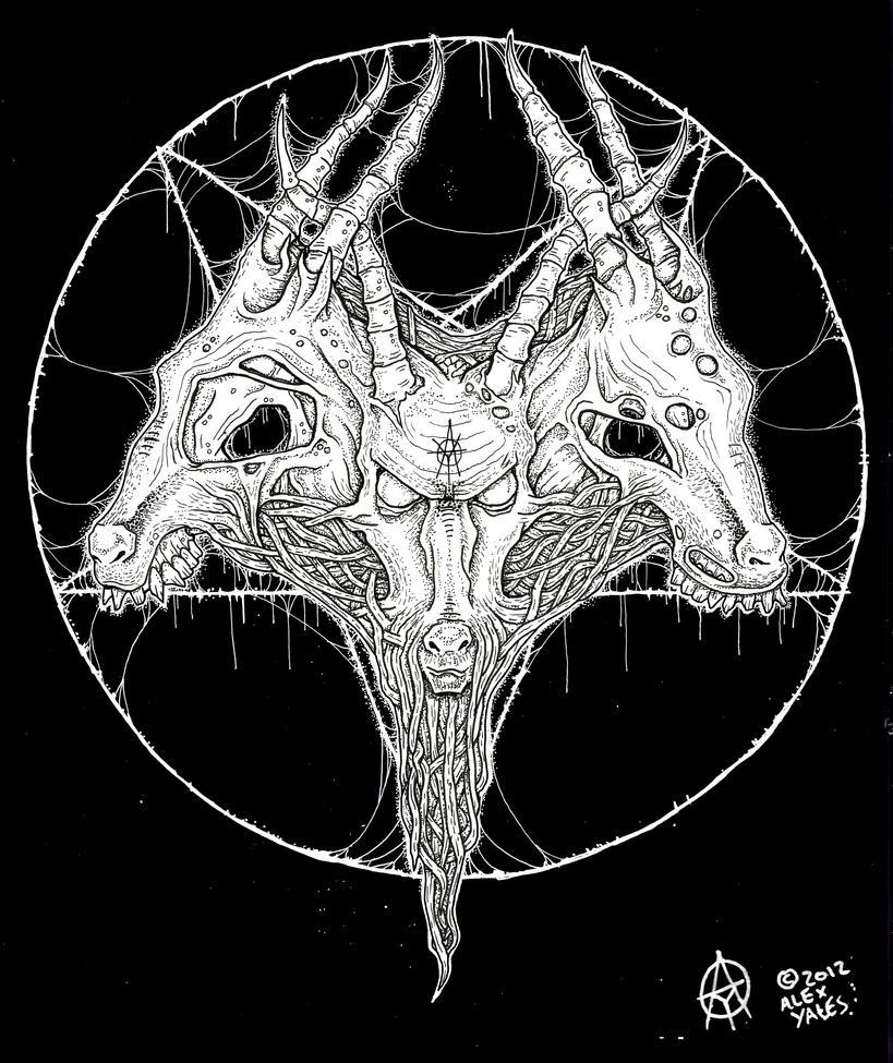 goat head pentagram by ayillustrations on DeviantArt