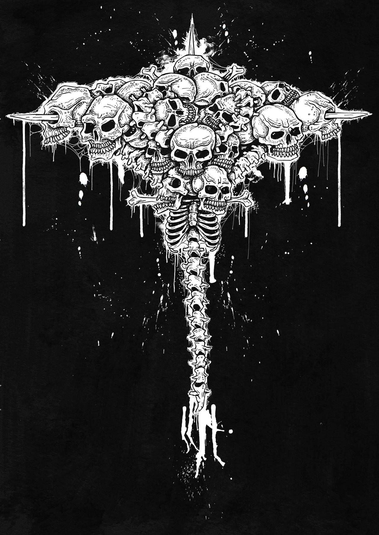 Skull Cross by ayillustrations