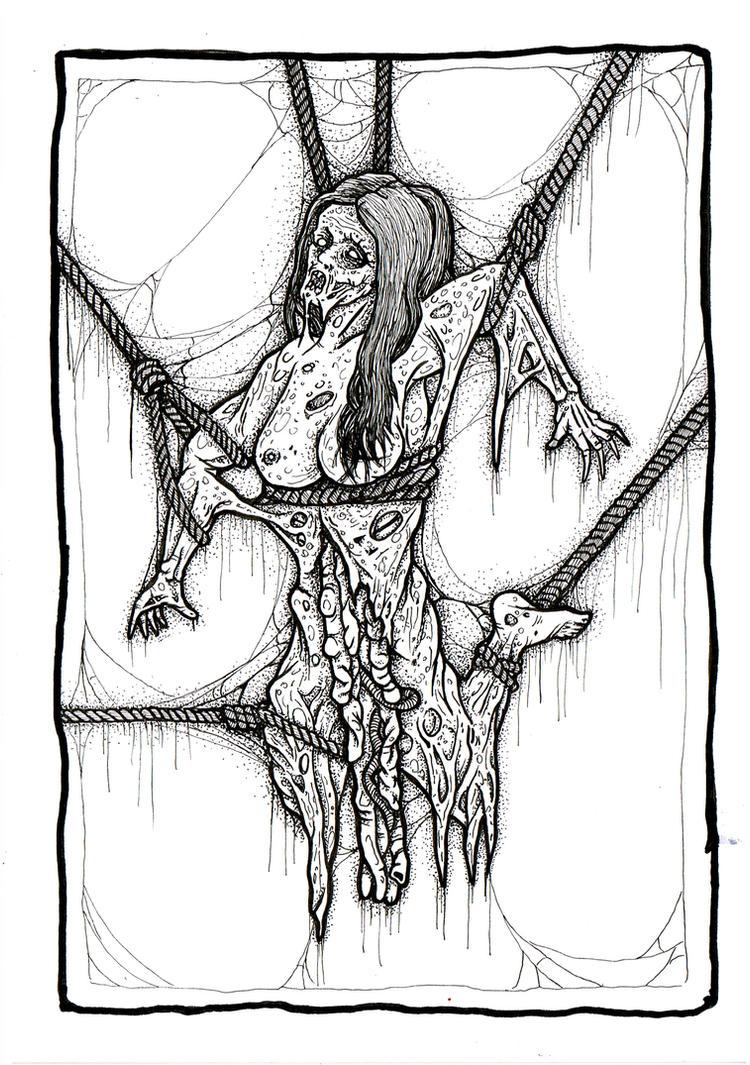 zombie bondage by ayillustrations