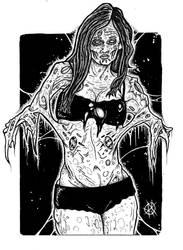 zombie portrait by ayillustrations