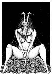 Satanic Nun Goat Whore