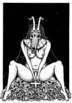 Satanic Nun Goat Whore by ayillustrations