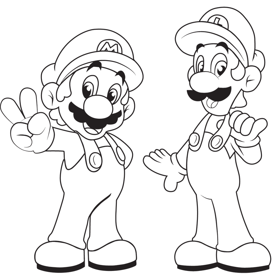 Coloring Pages Mario Kart And Luigi By ChupaCabraThing On DeviantArt