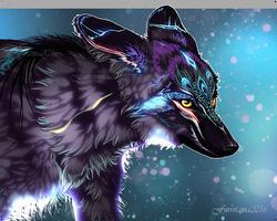 Sky Wolf Portrait by Furrirama