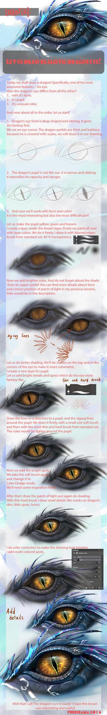 Let us draw realistic dragon eye! by Furrirama