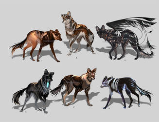 Maned Wolfpack Adopts4 (closed) by Furrirama