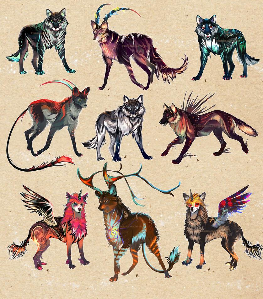 FREE wolf adopt WINNERS!!! by Furrirama
