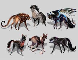 Maned Wolfpack Adopts10 (closed) by Furrirama