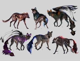 Closed! Maned Wolfpack Adopts 16 by Furrirama