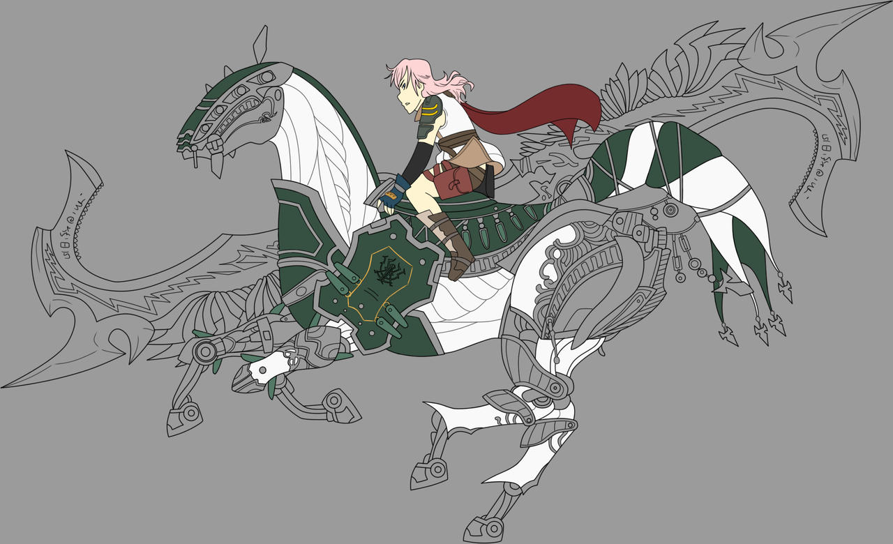 Odin and Lightning WIP 3 by c-plaus