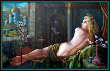 Dusk oil on canvas 36 X 48 by AdrianXXX777