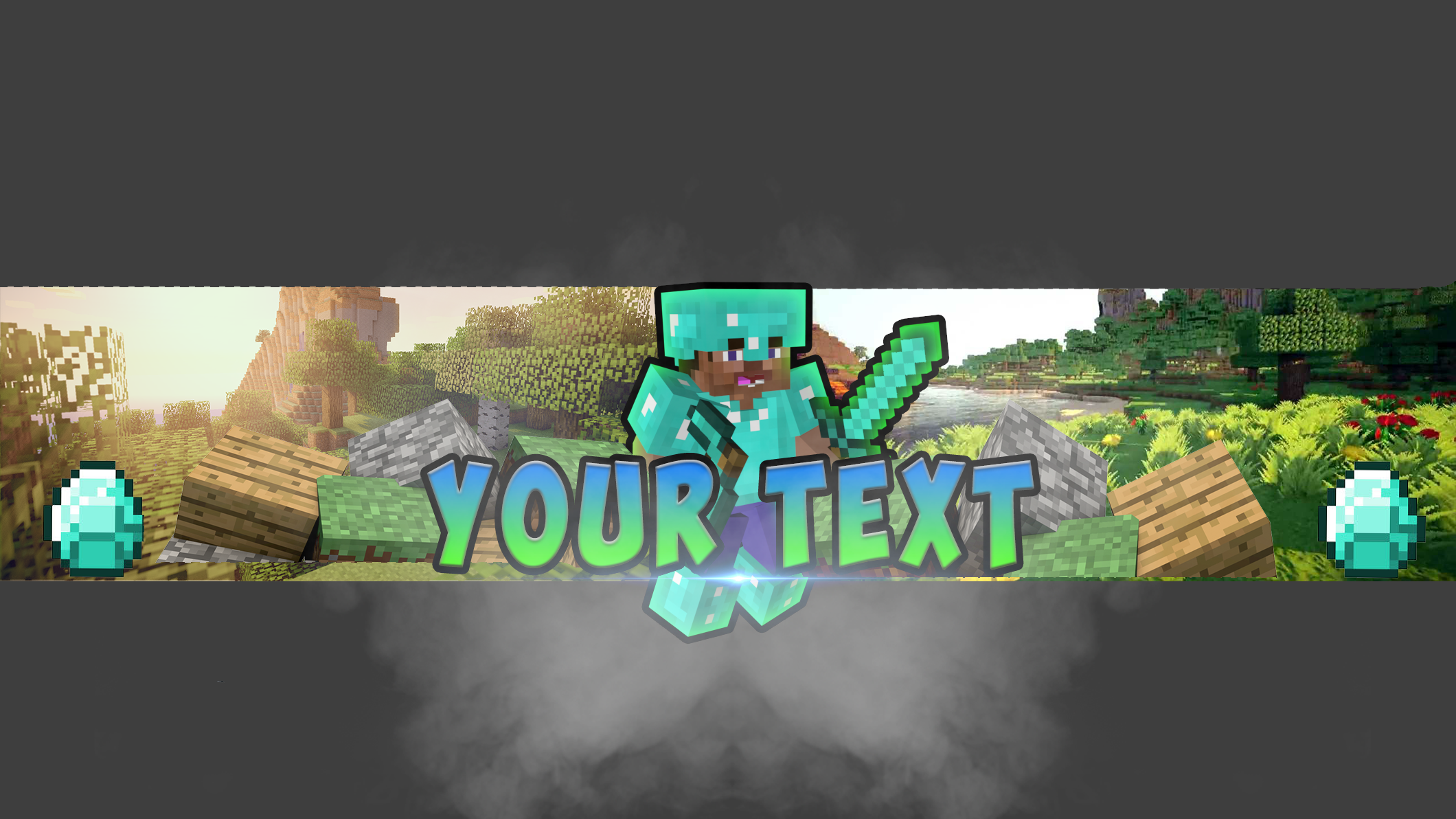 minecraft youtube banner template by modzdoesgraphics on deviantart. Black Bedroom Furniture Sets. Home Design Ideas