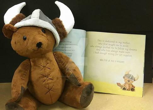 HalfDan the Viking Bear and his book page