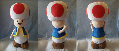 Toad Plush from Mario Bros