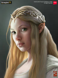 Elf Girl ImagineFX by NarciusArt