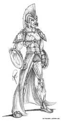 A stylized warrior by jomra