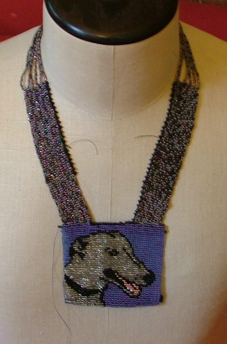 Greyhound necklace by nellielaan