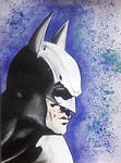Batman and the Joker: A Diptych (Batman Closeup)