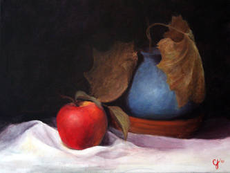 Still Life, Apple and Pot by reality-chaser