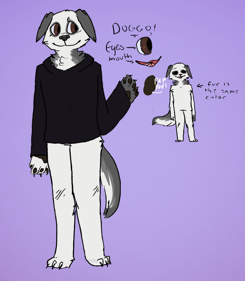 Doggo Ref (sona//temp ref) by maddy-the-doggo