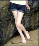 Feet Legs and Sand