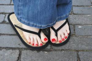 Gorgeous Flip Flops by Foxy-Feet