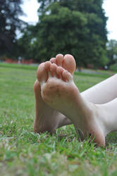 Close Grassy Soles by Foxy-Feet