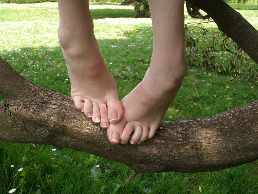 Barefoot Tree Climbing by Artistic Feet