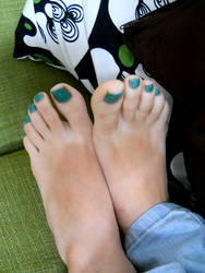Relaxed Sofa Toes by Foxy-Feet