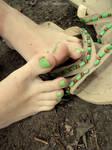 Kawaii Green Toes