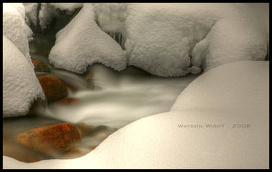 The texture of snow by tourofnature