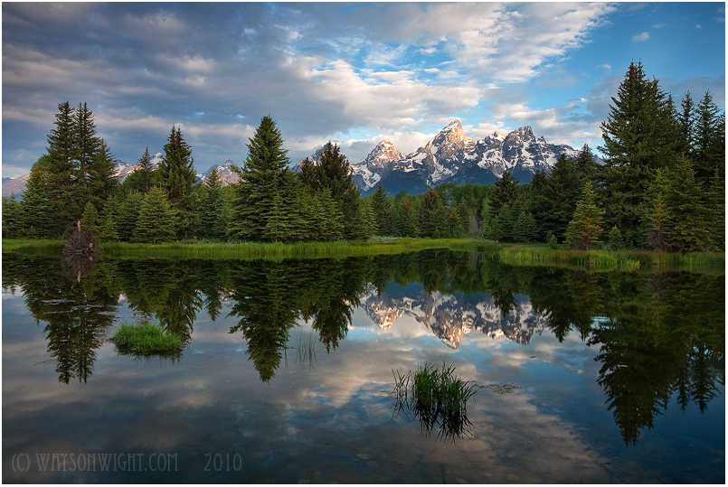 Teton Reflections by tourofnature